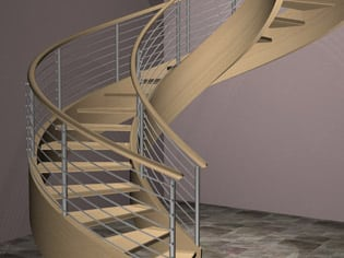 Curved Commercial Staircase