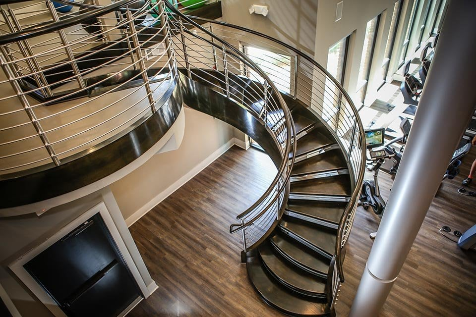 Stainless Steel Curved Stairs