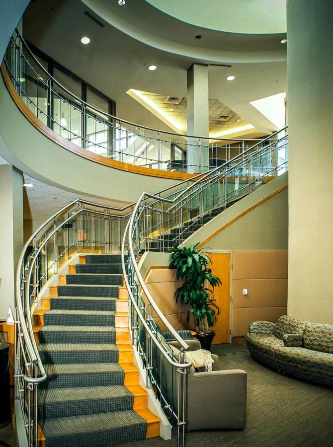 Commercial curved stair design
