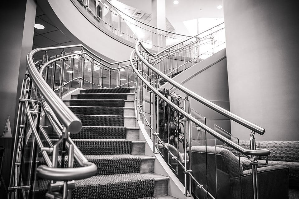 Stainless Steel commercial stair design