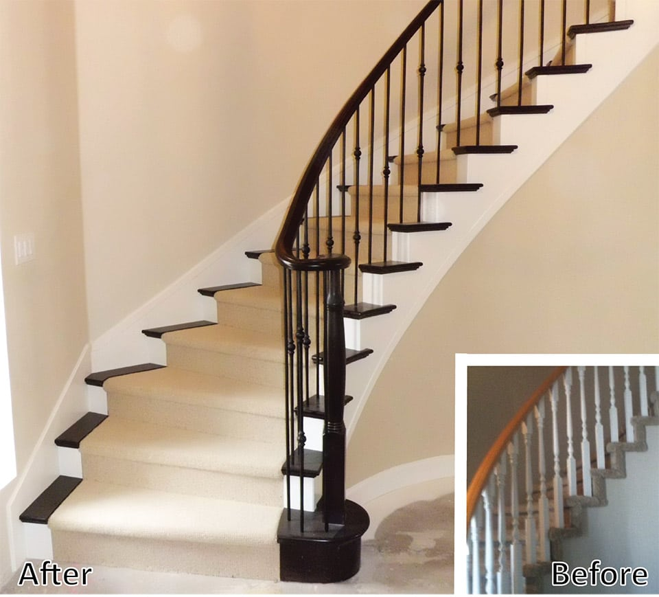 Beautiful Staircase Remodel, Curved Staircase