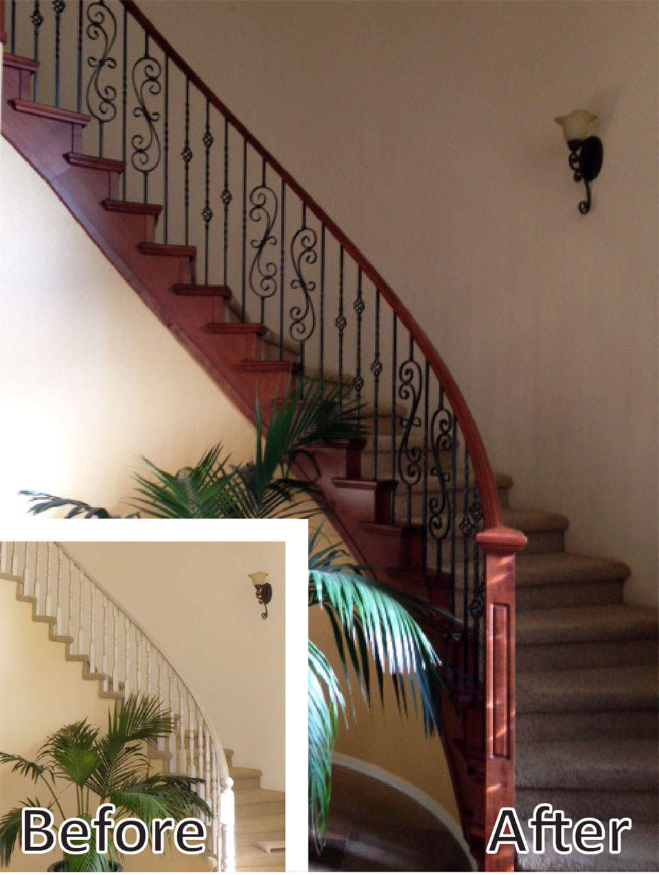 Staircase Remodel, Curved Staircase