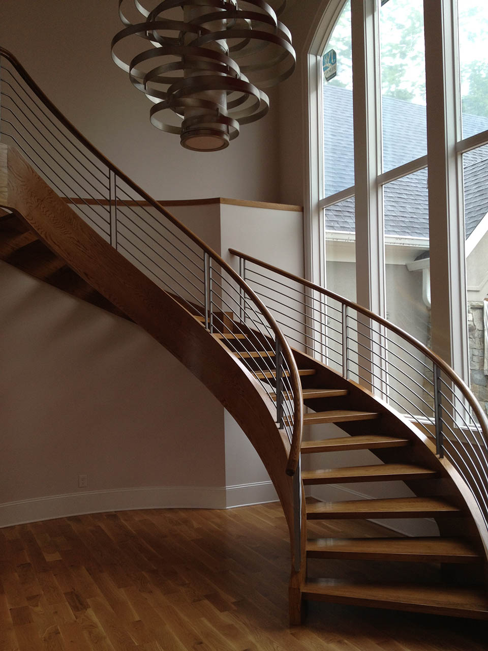 High Quality Stainless Steel Staircase, Curved Stairs