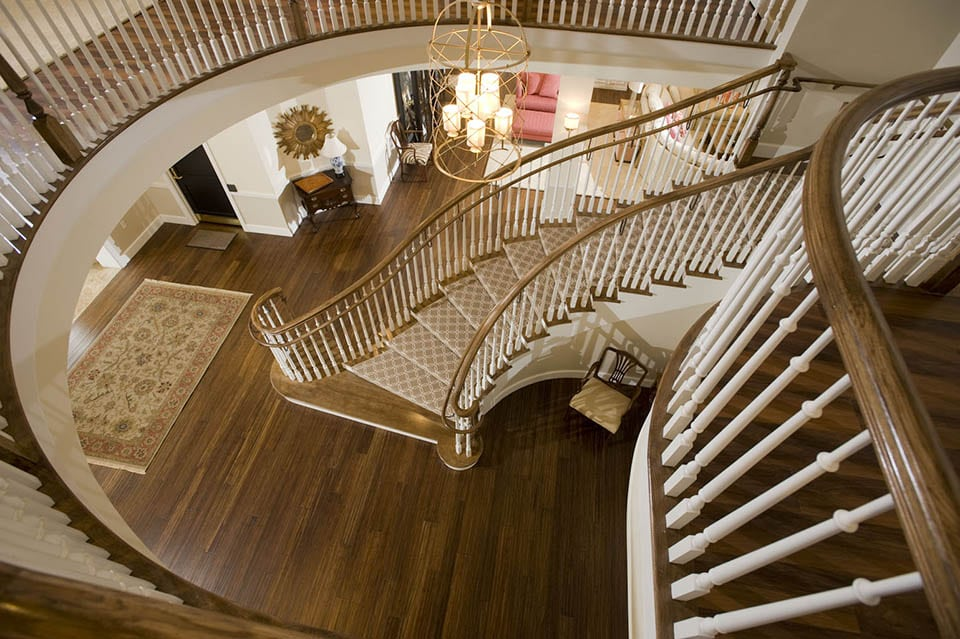Traditional Curved Stairs