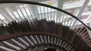 Curved Rustic Stair