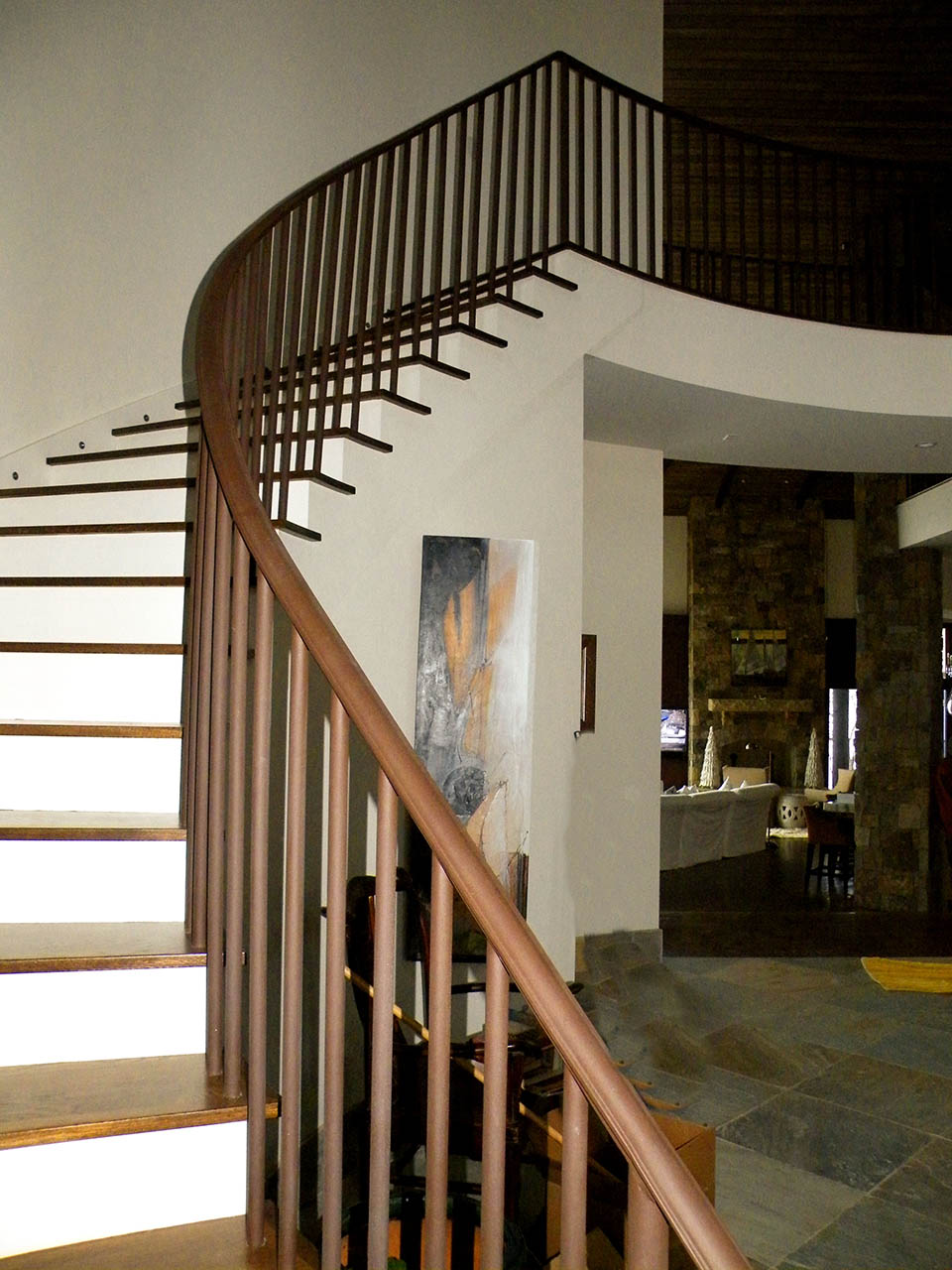 Curved Stairs Wooden Baluster
