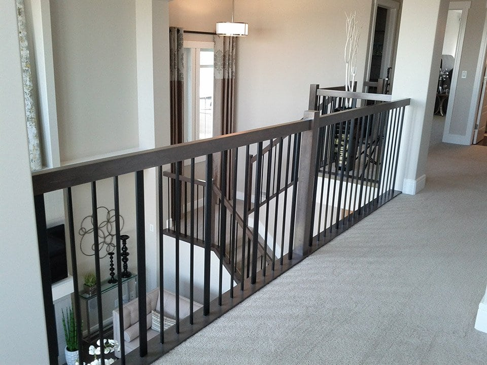 metal baluster system modern staircase