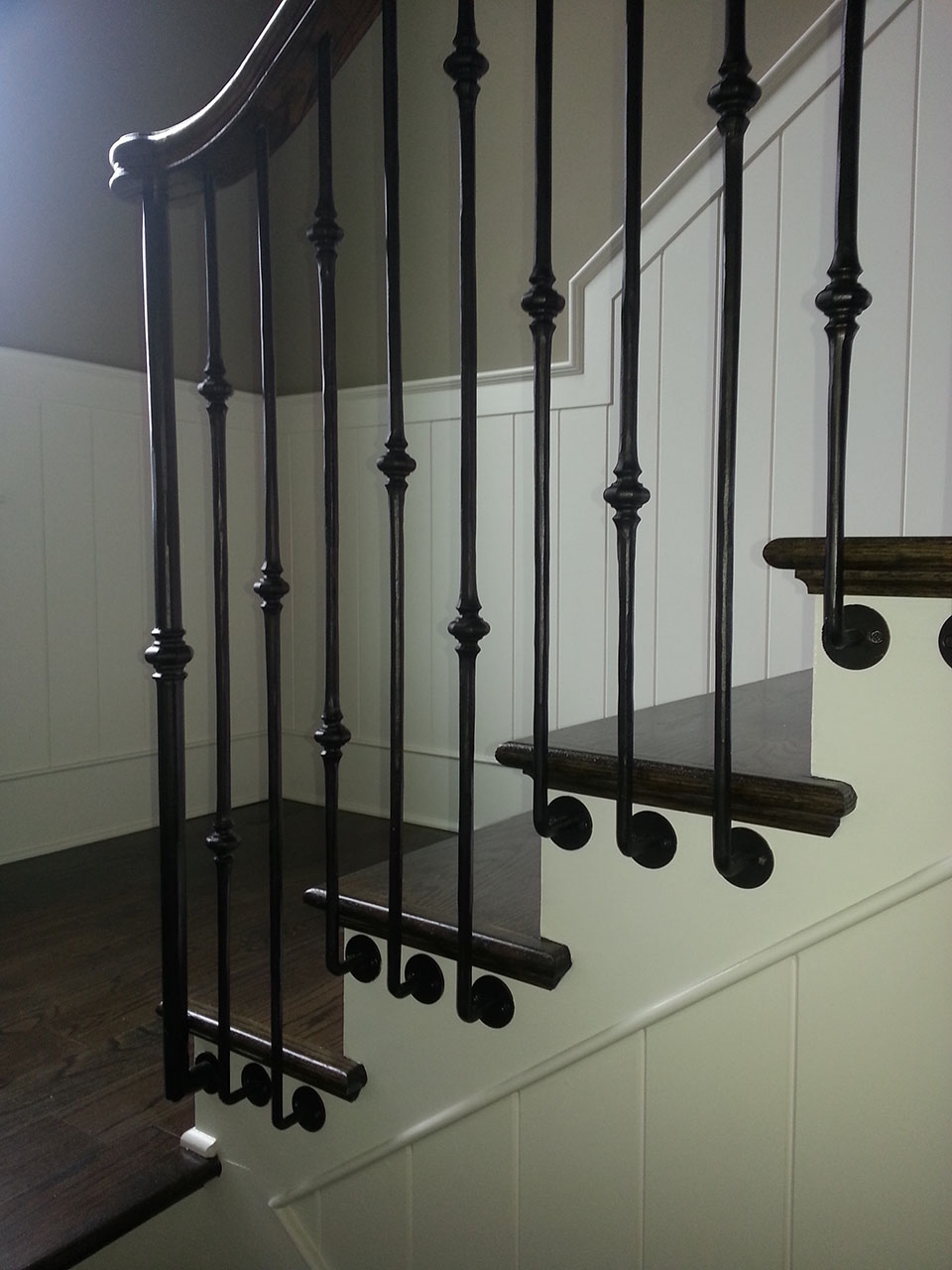 metal baluster system custom staircase