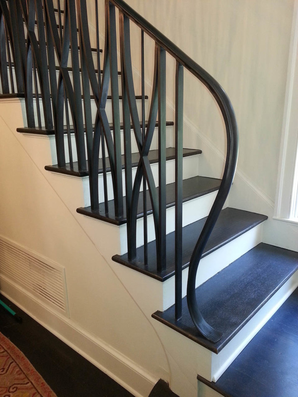 Rustic Stairs Wrought Iron Handrail