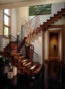wrought iron handrail staircase