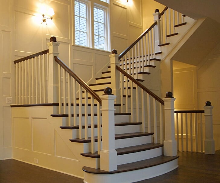 craftsman staircase straight stairs