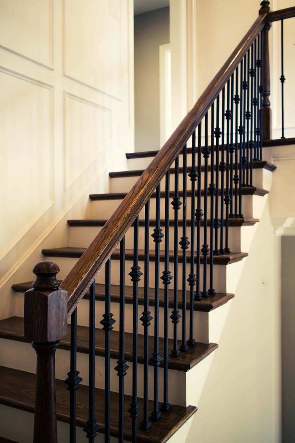 straight stairs metal baluster