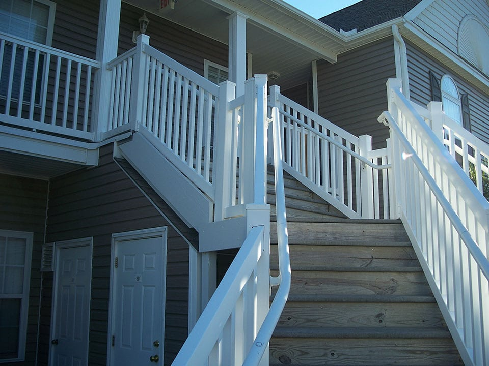 exterior stairs wooden baluster