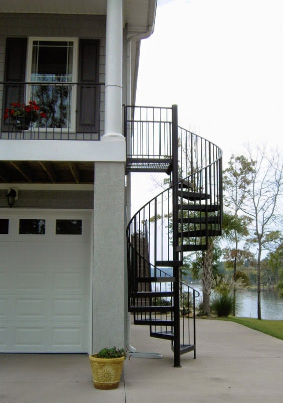 Superb Exterior Stairs Outdoor Spiral Staircase