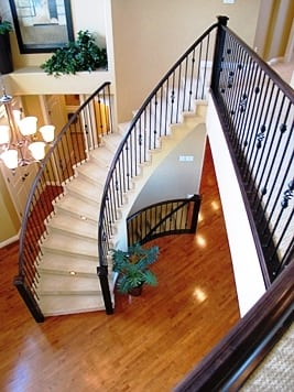 Southwestern Curved Staircase