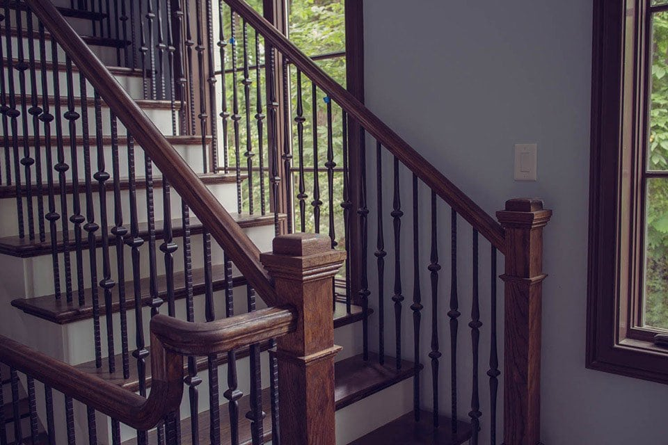 Metal Baluster Craftsman Staircase