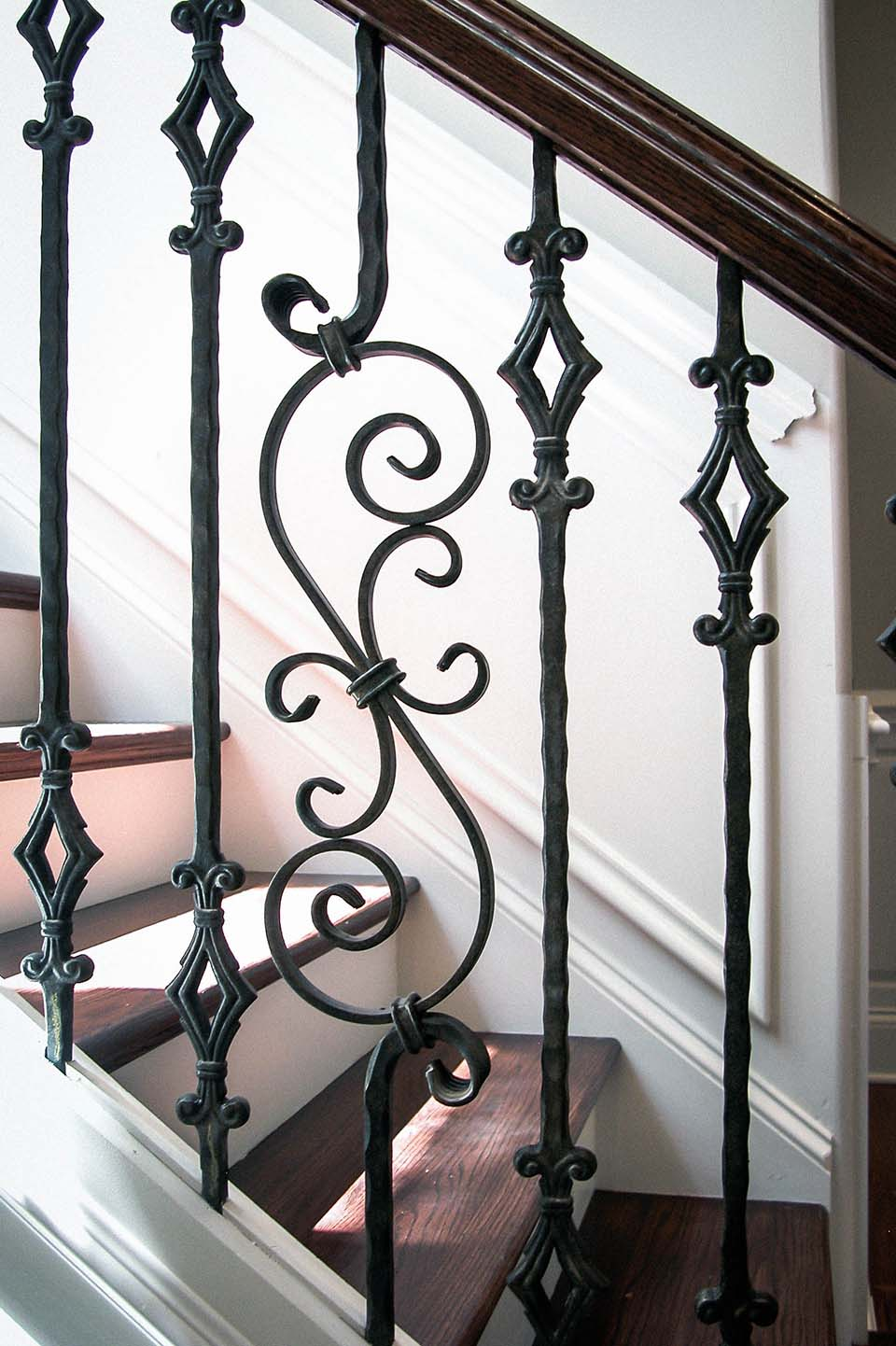 Rustic Stairs Metal Baluster
