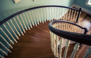 Wood Baluster Round Stairs