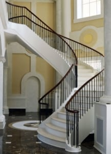 Delightful Open Riser Curved Staircase 0203