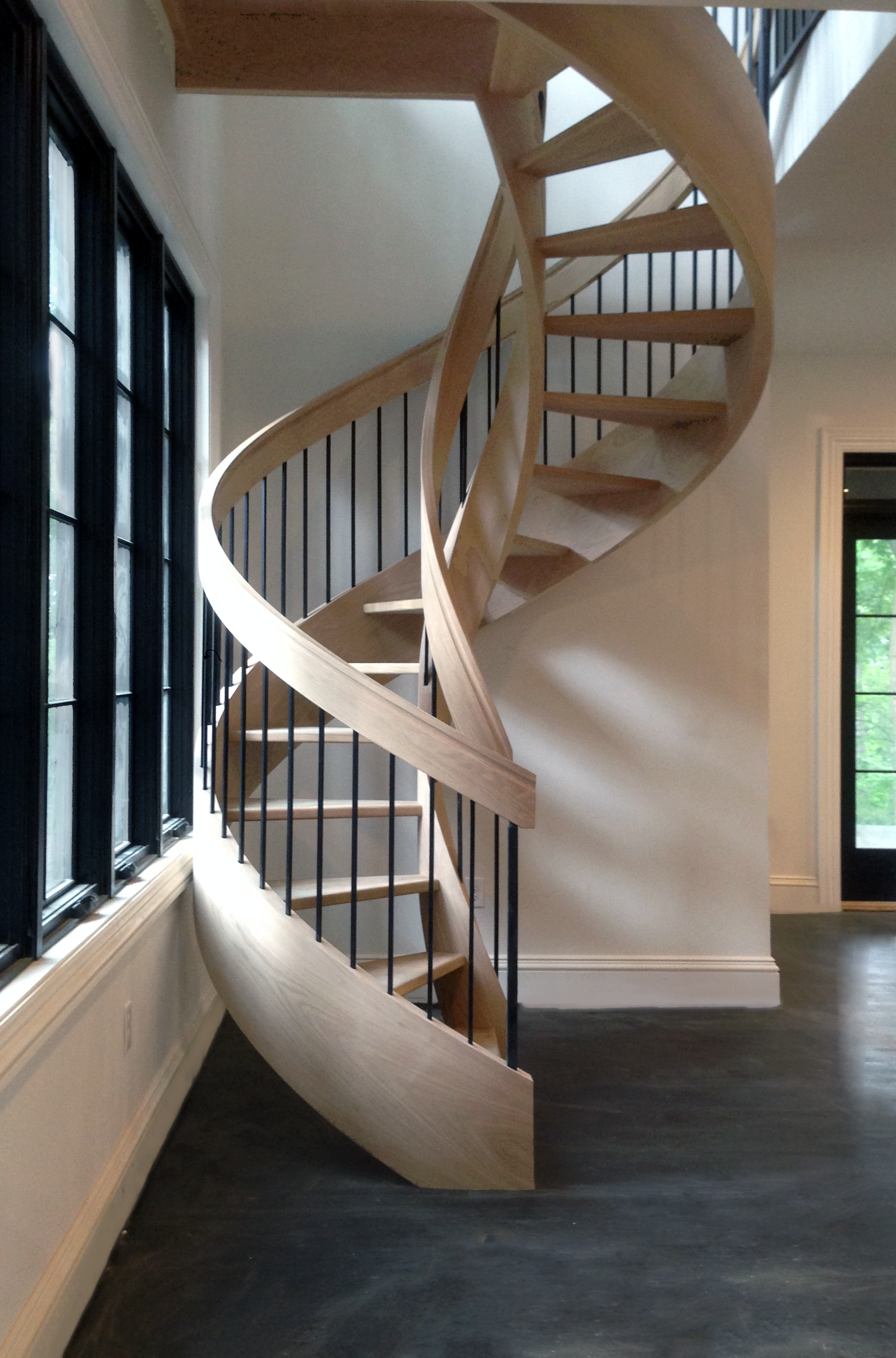 4 creative circular staircase designs for Double curved staircase