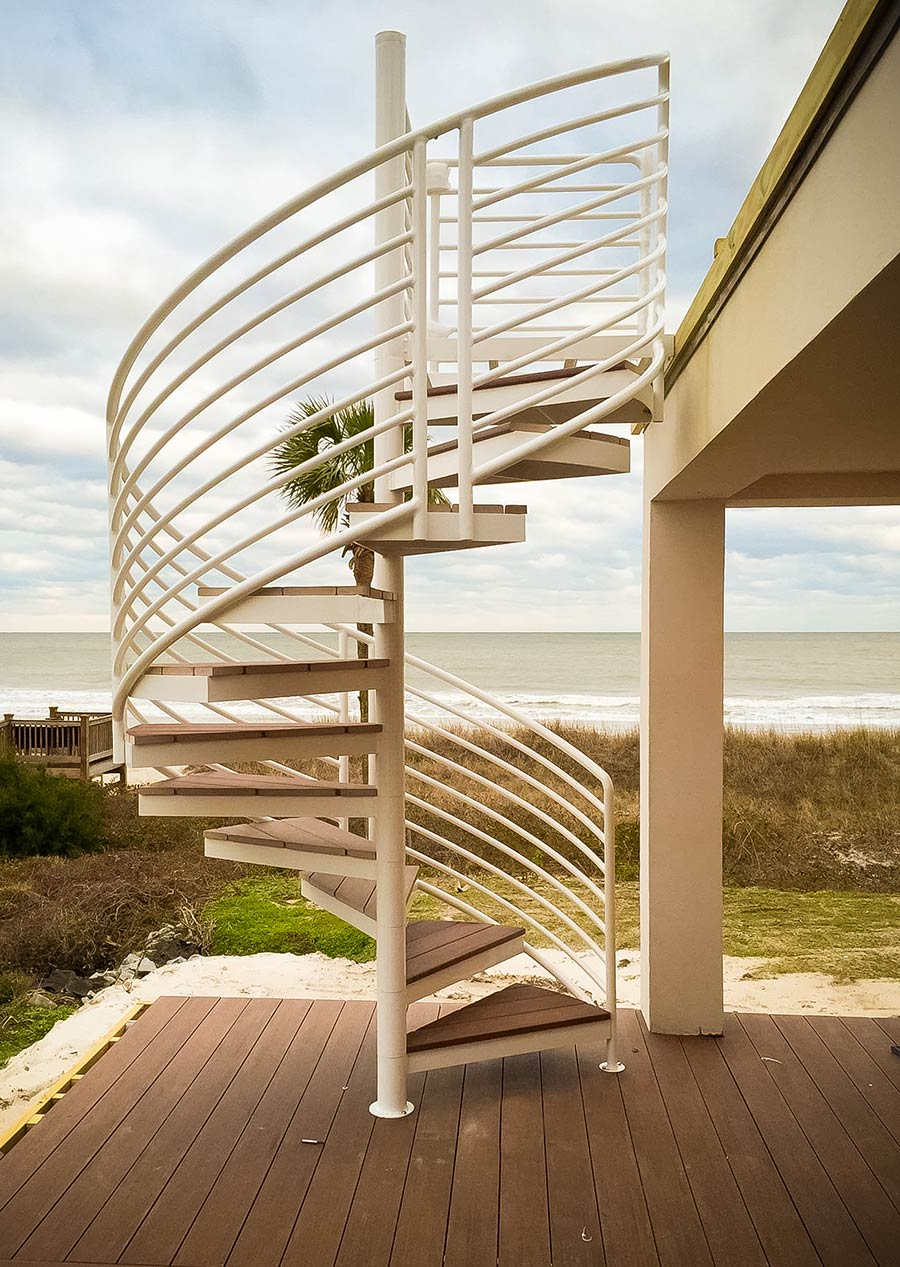 Exterior stairs design construction artistic stairs for Spiral stair design