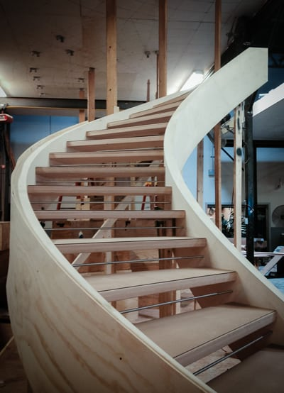 Modern Curved Stairs A Progressive Story
