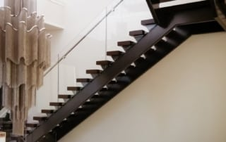 open riser stair with modern railing