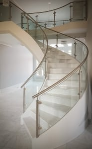 Modern Glass Curved Stair