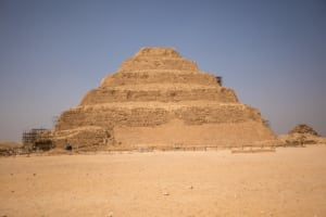 Ancient Egyptian step pyramid arhcitecture