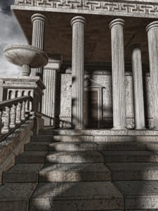 Ancient Greek stair design