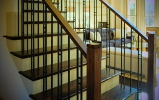 mission style staircase