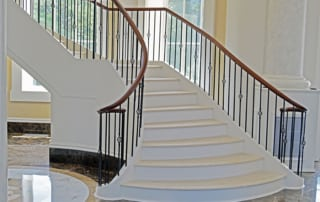 flared staircase