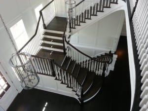 traditional custom flared staircase