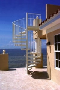 exterior custom staircase commercial stairs