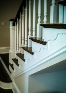 balusters and custom staircase