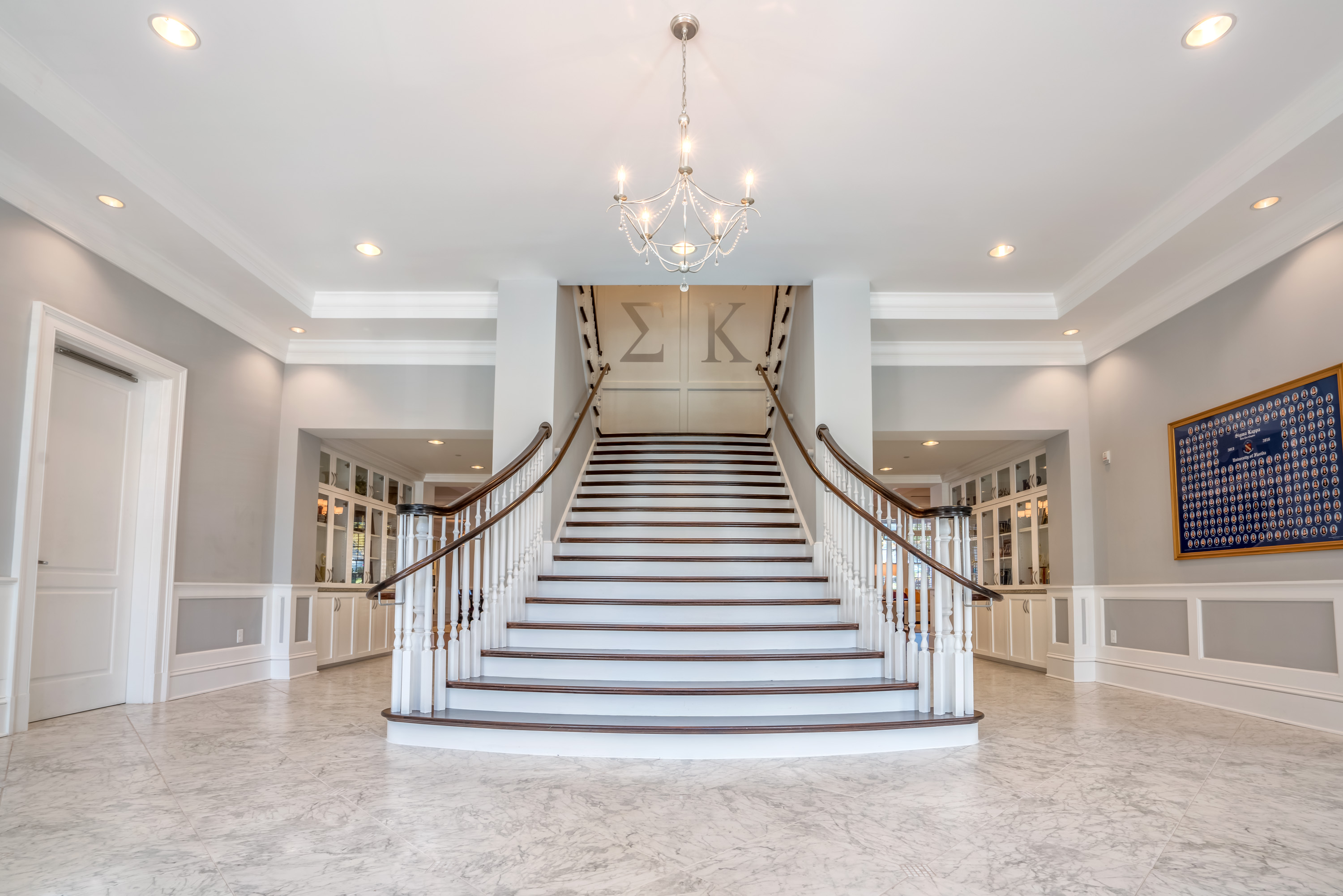 Grand Flared Staircase Artistic Southern Stairs
