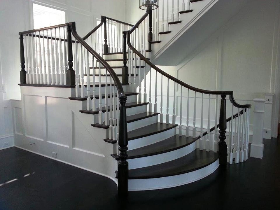 flared custom staircase