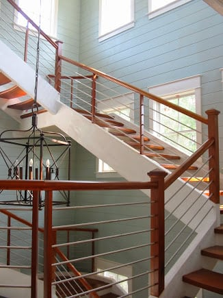 Stainless Steel Staircase, open riser stairs