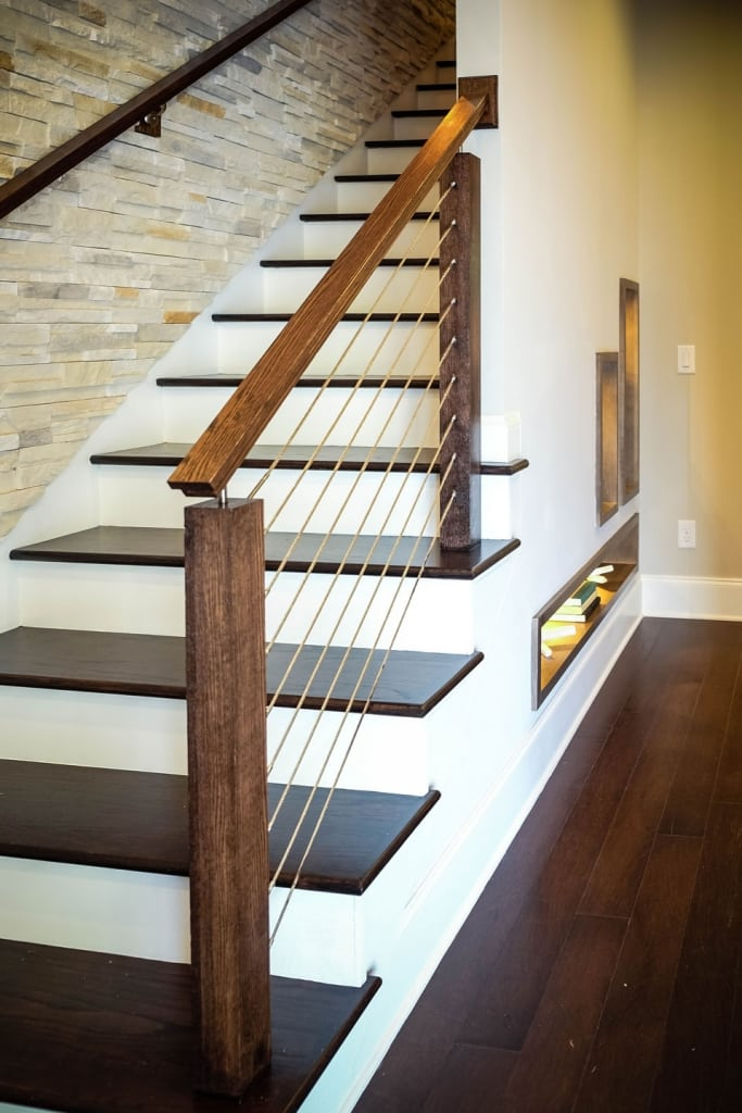 cable railing systems straight stairs