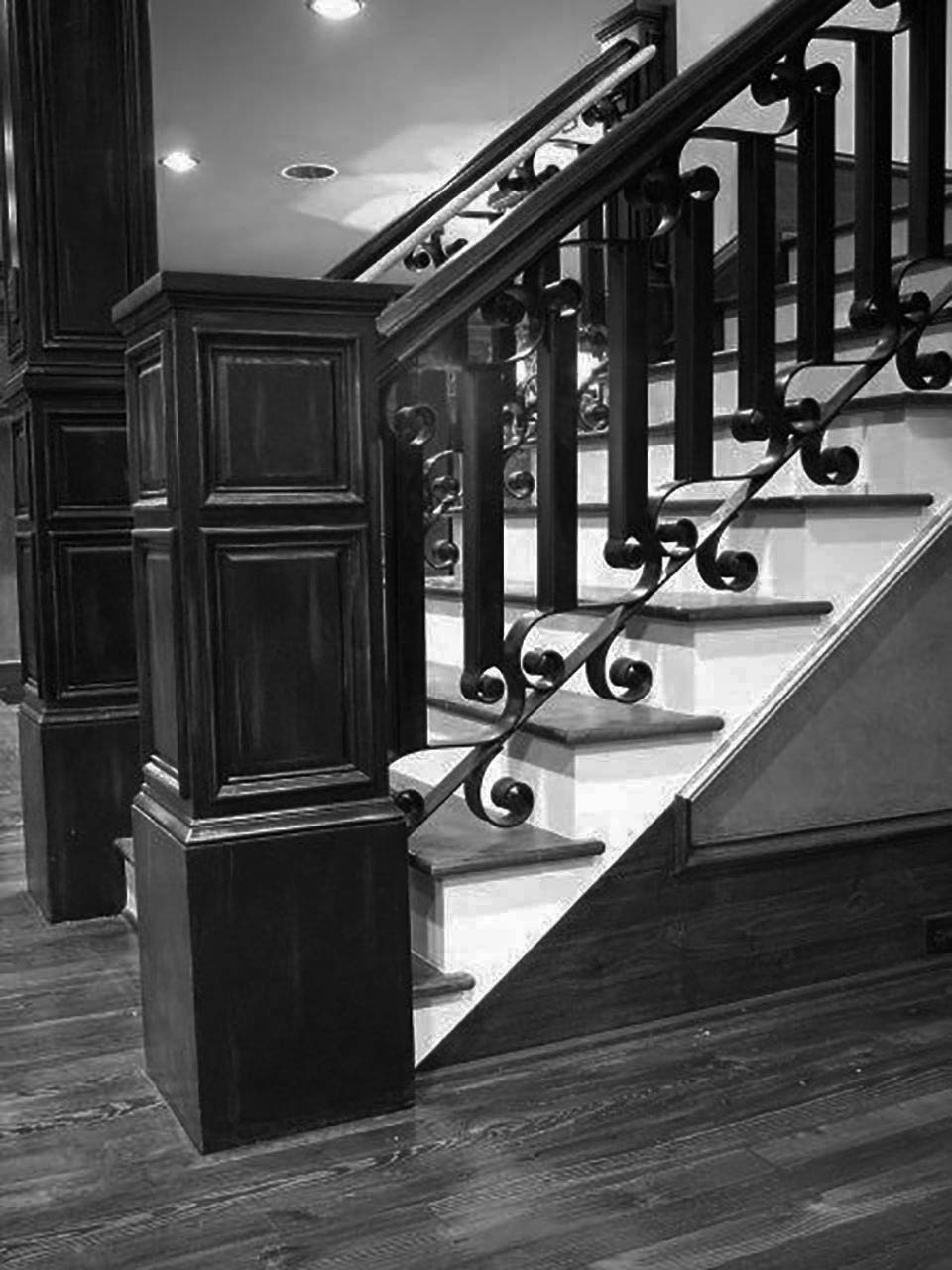 Open Riser Rustic Stairs