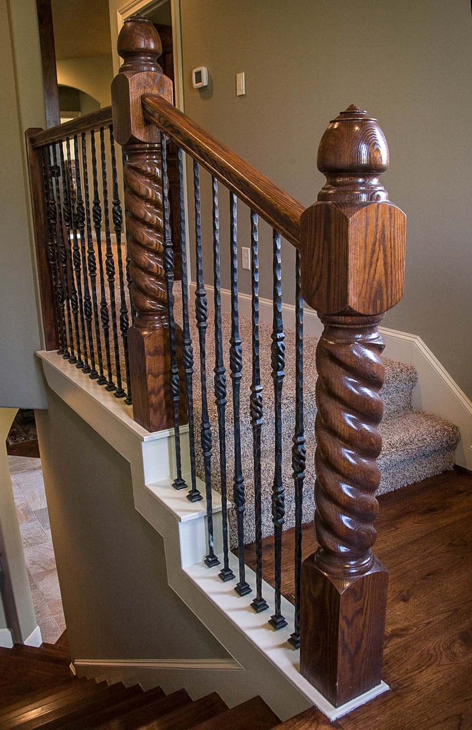 Rustic Staircase Design Rustic Balusters Southern