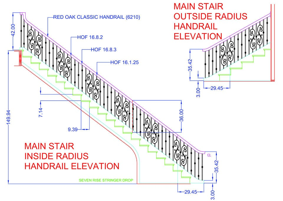 residential Custom stairs 3d model