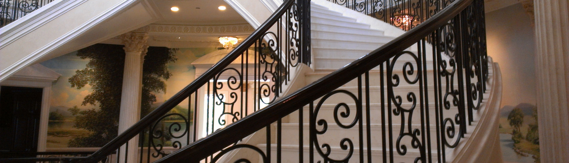 Wrought Iron Railing on Stairs